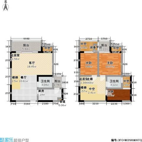 永年・高九领地3室0厅2卫1厨141.00㎡户型图