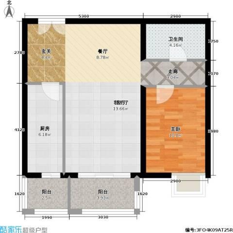 依莲轩二期1室1厅1卫1厨81.00㎡户型图