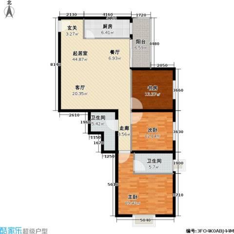 西环景苑(尾盘)3室0厅2卫1厨127.00㎡户型图