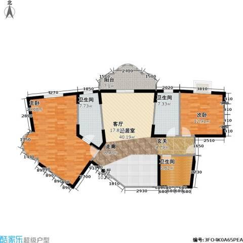静安苏堤2室0厅3卫0厨120.00㎡户型图