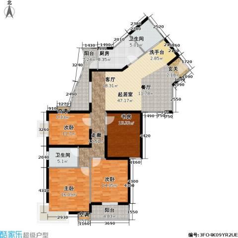 静安苏堤4室0厅2卫1厨150.00㎡户型图