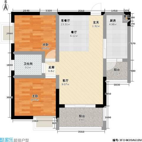 永年・高九领地2室1厅1卫1厨83.00㎡户型图