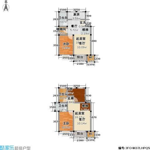 经典花苑3室0厅3卫1厨94.00㎡户型图