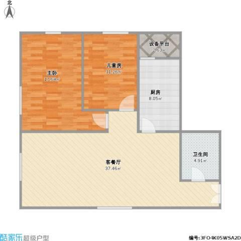 华鸿国际中心2室1厅1卫1厨109.00㎡户型图