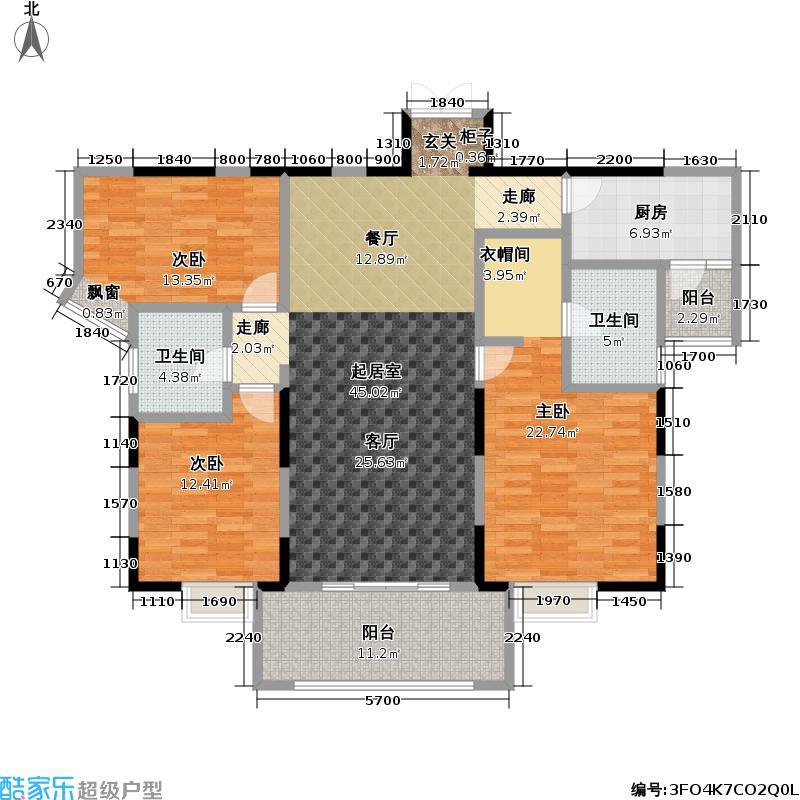 常阳永清城(二期)三房二厅二卫-154.55平方米-30套户型