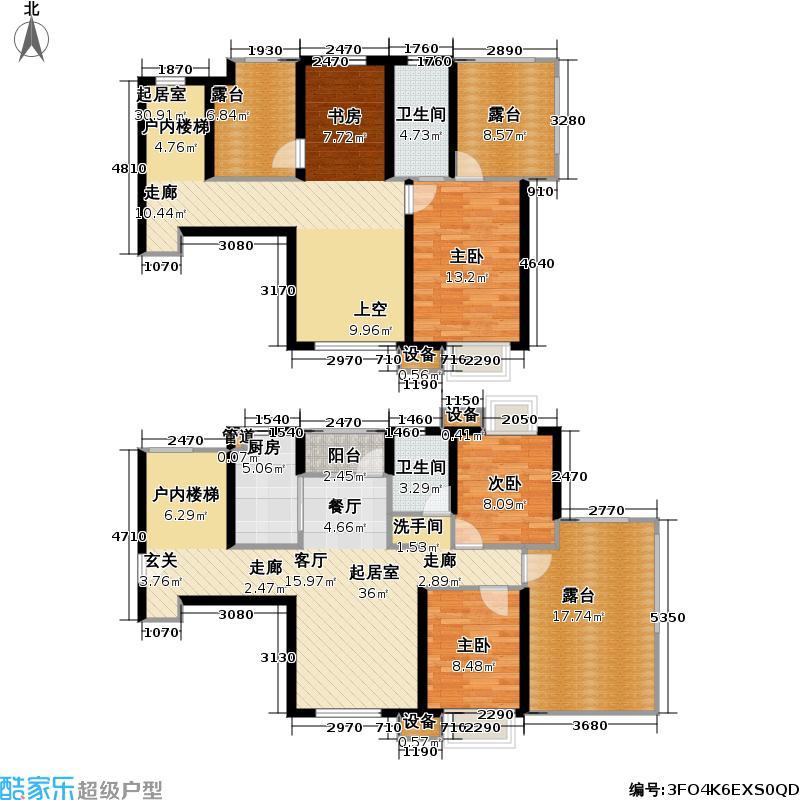 首开悦澜湾163.00㎡首开悦澜湾户型图四期B5户型四室两厅两卫(1/3张)户型4室2厅2卫