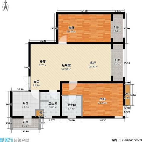 富莱茵花园2室0厅2卫1厨137.00㎡户型图