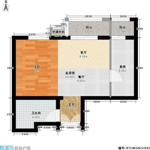 依莲轩二期1卫1厨56.00㎡户型图