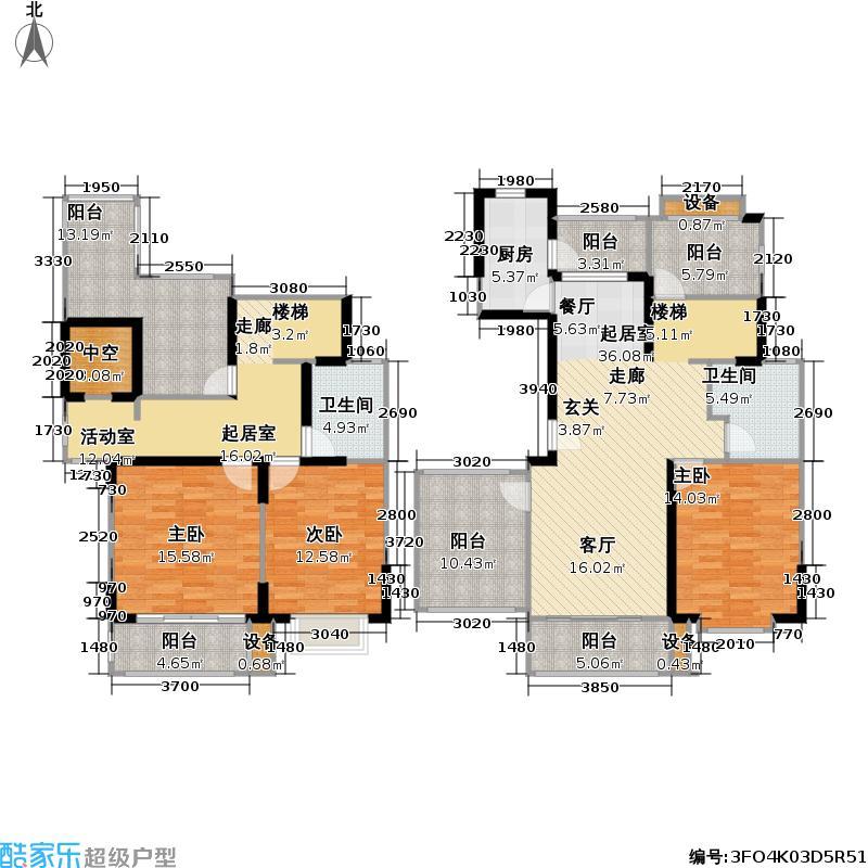 现代星洲城一期174.50㎡房型复式户型