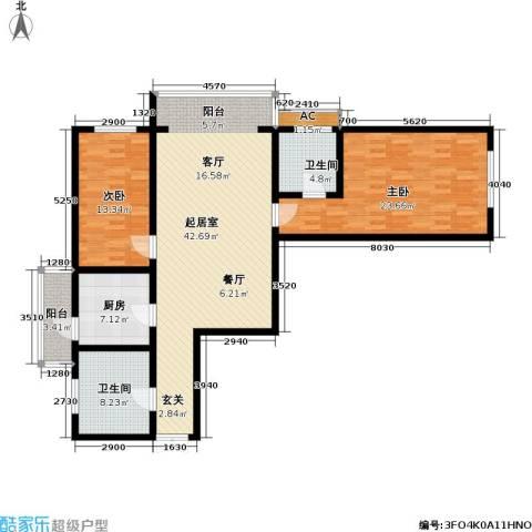 富莱茵花园2室0厅2卫1厨120.00㎡户型图