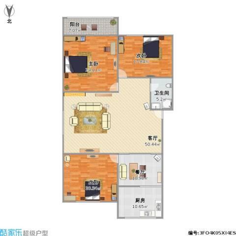 新馨家园3室2厅1卫1厨194.00㎡户型图