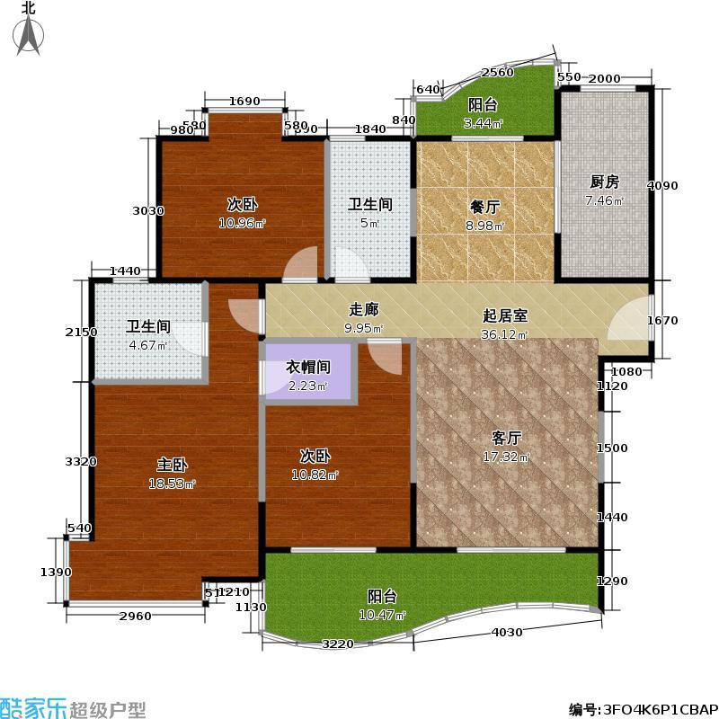 虹叶茗园一期118.56㎡房型: 三房; 面积段: 118.56 -118.56 平方米;户型