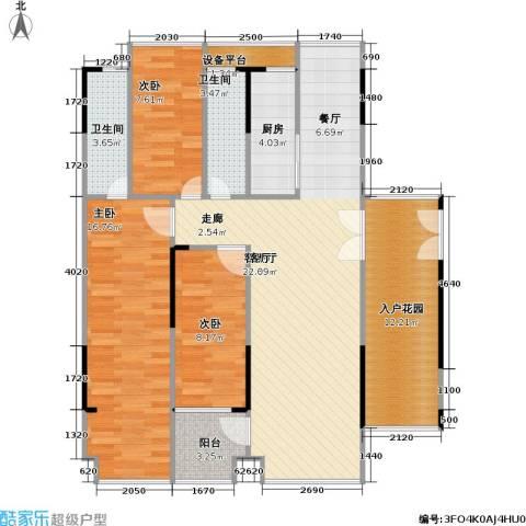 杰座3室1厅2卫1厨100.00㎡户型图