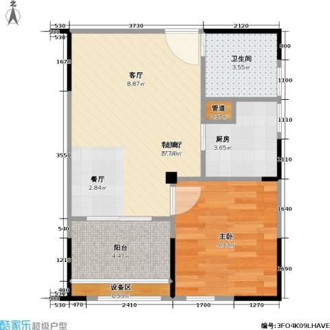 海语江山 海尔・海语江山1室1厅1卫1厨54.00㎡户型图