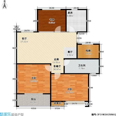 人民家园3室1厅1卫1厨107.00㎡户型图