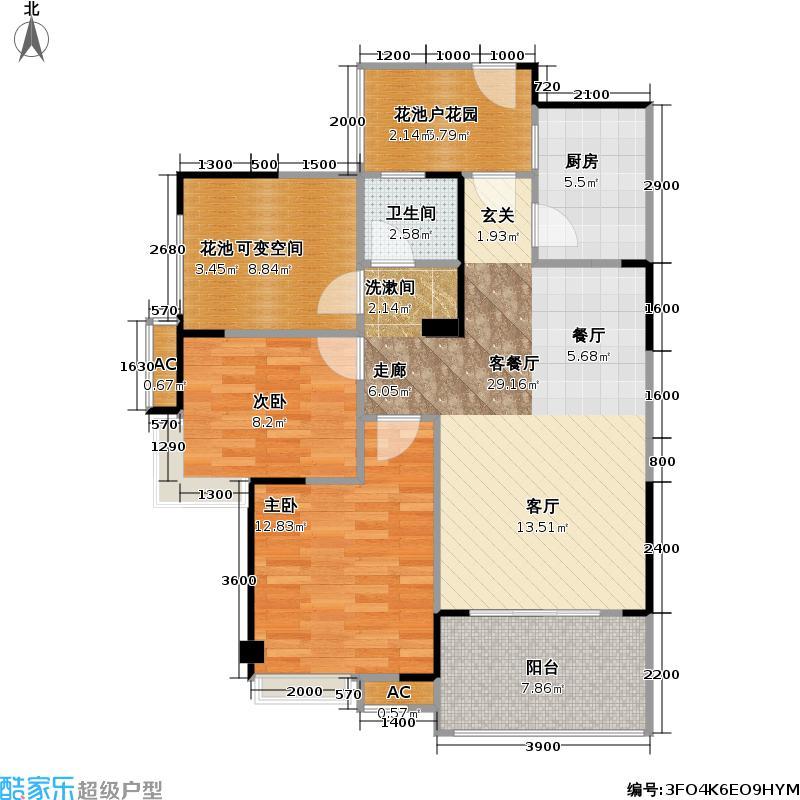 邑品天都87.20㎡邑品天都户型图二期7号楼K1户型2室2厅2卫1厨87.20㎡(17/25张)户型2室2厅2卫