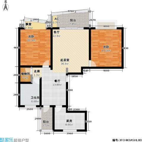 中房三林城 金谊河畔二期2室0厅1卫1厨146.00㎡户型图