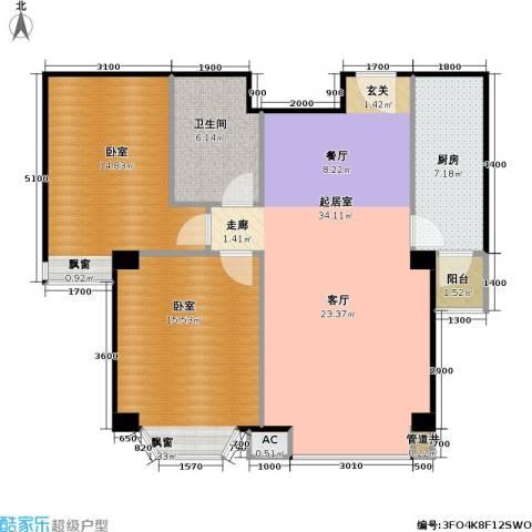瑞海姆公寓1卫1厨87.00㎡户型图