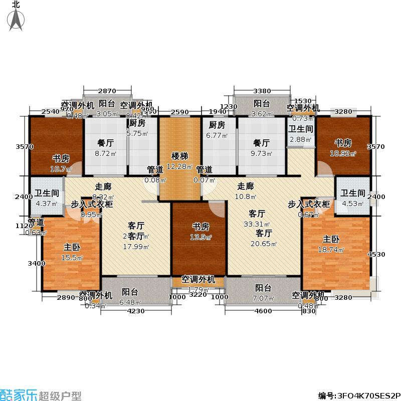 望族新城房型: 二房; 面积段: 91.88 -114.58 平方米; 户型