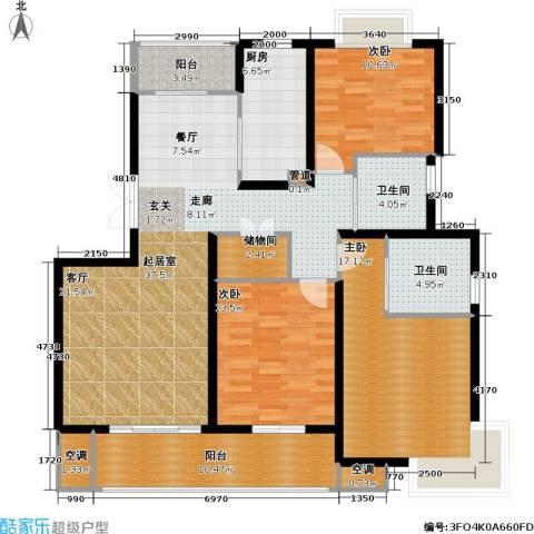 宏润韶光花园3室0厅2卫1厨129.00㎡户型图
