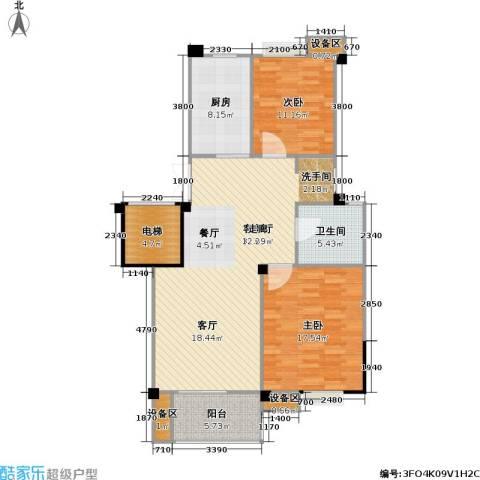 阳湖名城2室1厅1卫1厨101.00㎡户型图