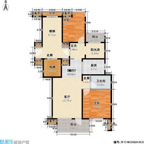 新江湾佳苑2室1厅1卫1厨80.00㎡户型图
