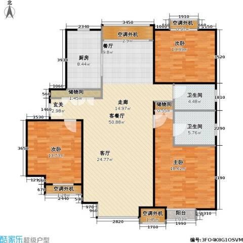 燕莎・后3室1厅2卫1厨135.00㎡户型图