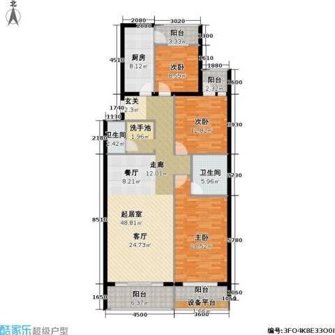 文津世家3室0厅2卫1厨173.00㎡户型图