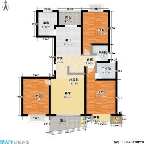 中房三林城 金谊河畔二期3室0厅2卫1厨173.00㎡户型图