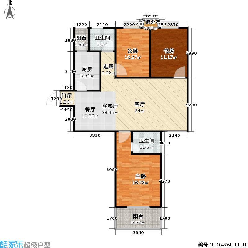 华南国际广场121.00㎡华南国际广场户型图A1户型三房两厅两卫(1/1张)户型3室2厅2卫