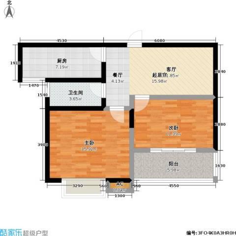 星鑫家园2室0厅1卫1厨70.00㎡户型图
