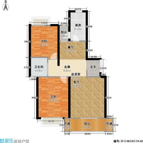 宏润韶光花园2室0厅1卫1厨97.00㎡户型图