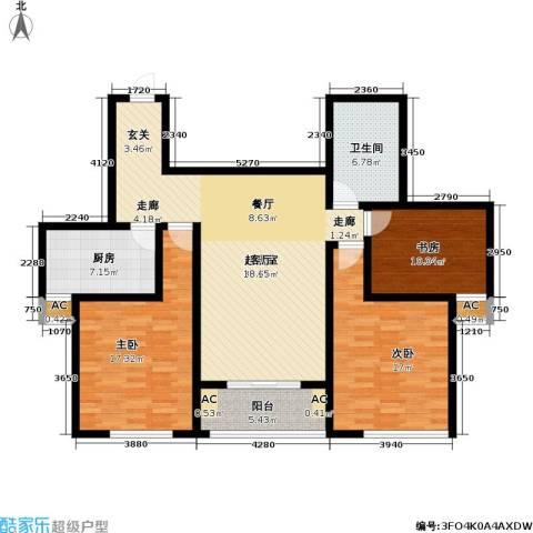 长虹名苑3室0厅1卫1厨145.00㎡户型图