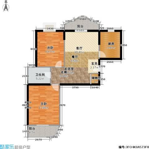 静安苏堤2室0厅1卫1厨115.00㎡户型图