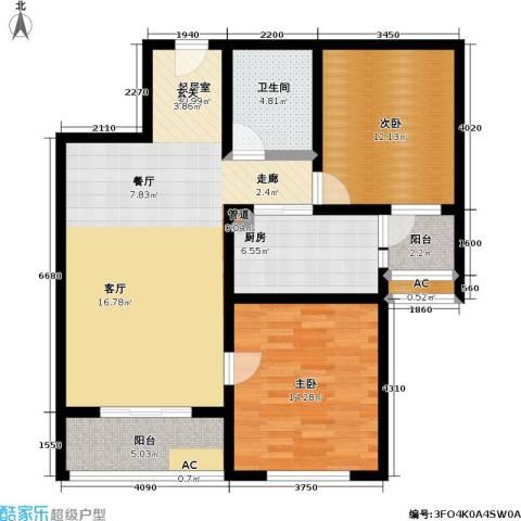 长虹名苑2室0厅1卫1厨111.00㎡户型图