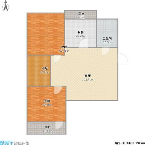 南辛北街宿舍2室1厅1卫1厨375.00㎡户型图