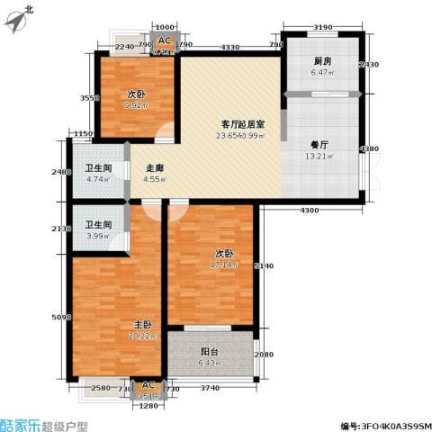 星鑫家园3室0厅2卫1厨120.00㎡户型图