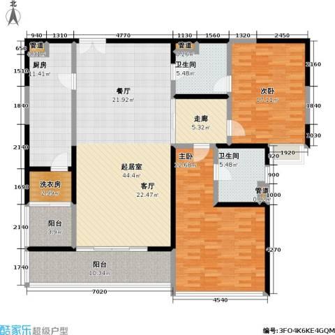皇都花园2室0厅2卫1厨151.00㎡户型图