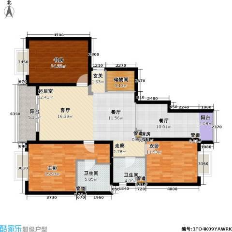 静安艺阁3室0厅2卫1厨119.00㎡户型图