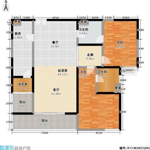 皇都花园2室0厅2卫1厨149.00㎡户型图