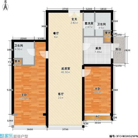 富莱茵花园2室0厅2卫1厨115.00㎡户型图