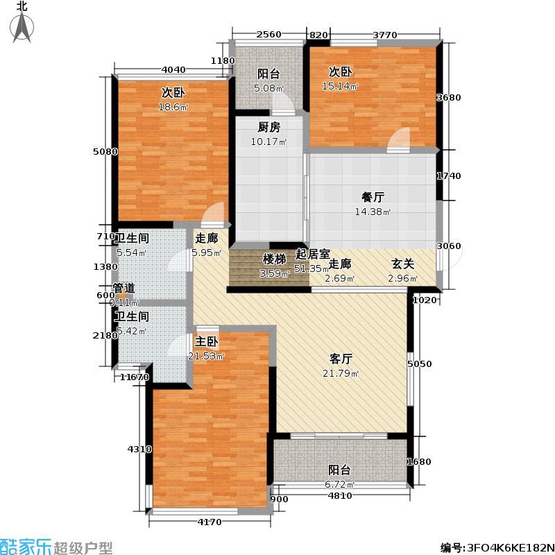 皇都花园164.02㎡CSA2(4、7、10层) 3室2厅2卫户型
