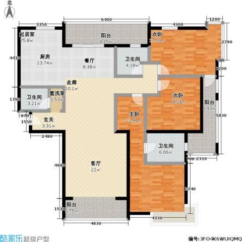 皇都花园3室0厅3卫0厨224.00㎡户型图