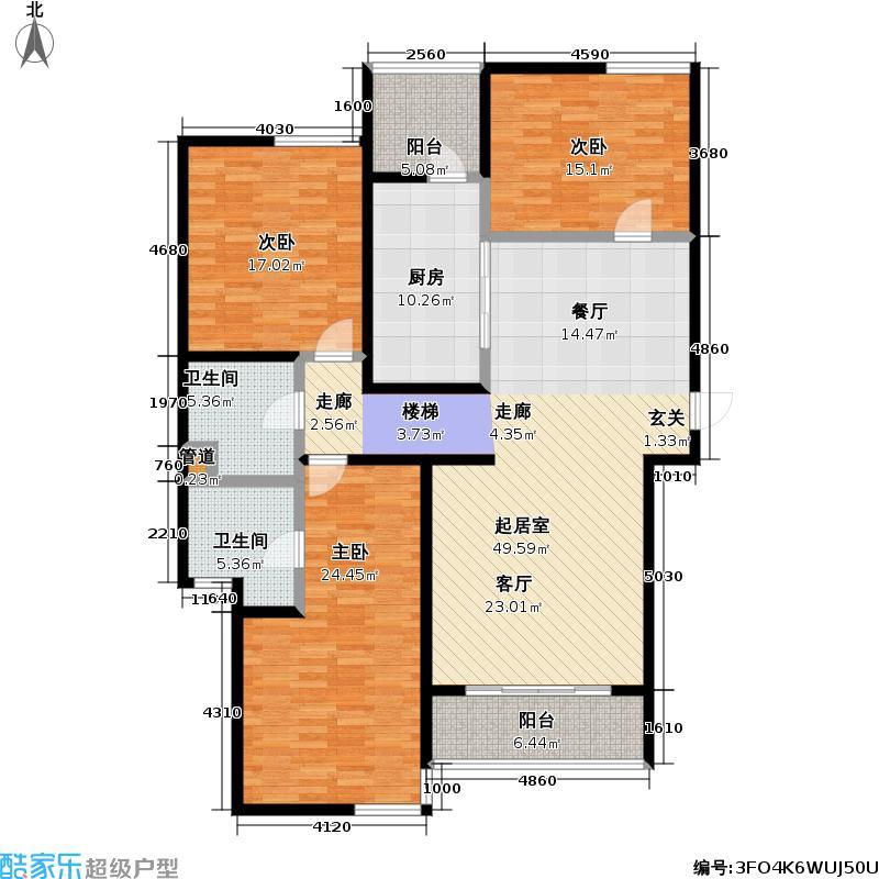 皇都花园162.18㎡CSA1(3、6、9层) 3室2厅2卫户型