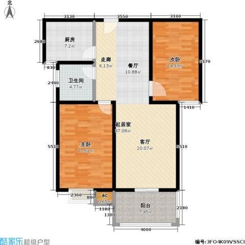 江南佳园2室0厅1卫1厨100.00㎡户型图