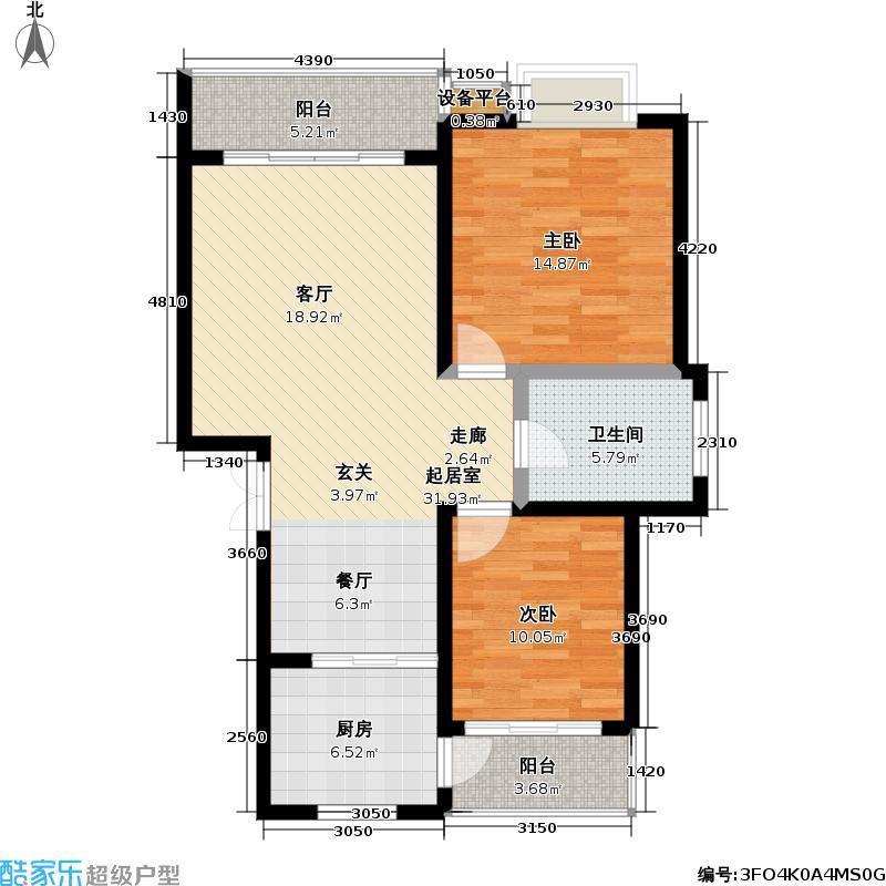 香桂园90.00㎡房型户型
