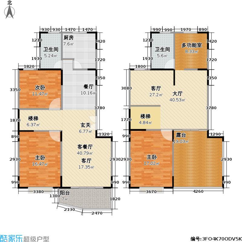 新世纪名苑158.86㎡房型: 复式; 面积段: 158.86 -182.35 平方米;户型