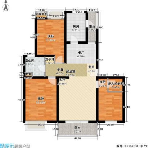 美乐地3室0厅1卫1厨105.00㎡户型图