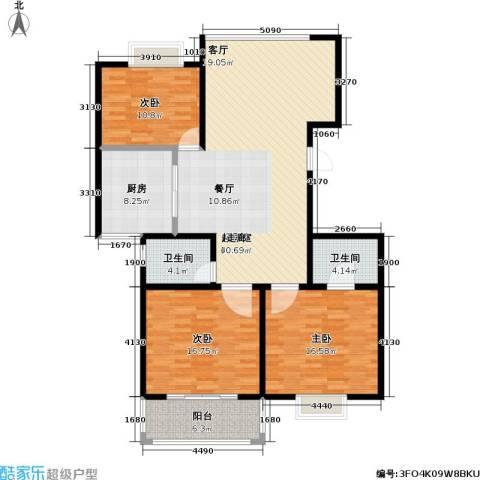 江南佳园3室0厅2卫1厨120.00㎡户型图