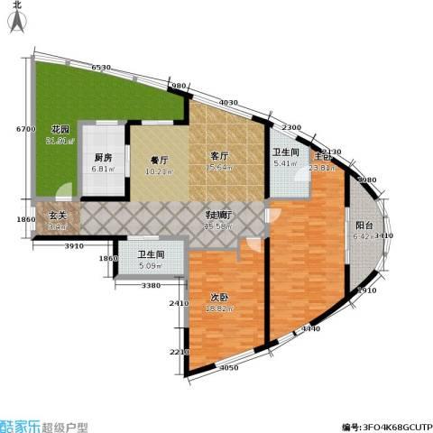 道生中心2室1厅2卫1厨147.00㎡户型图